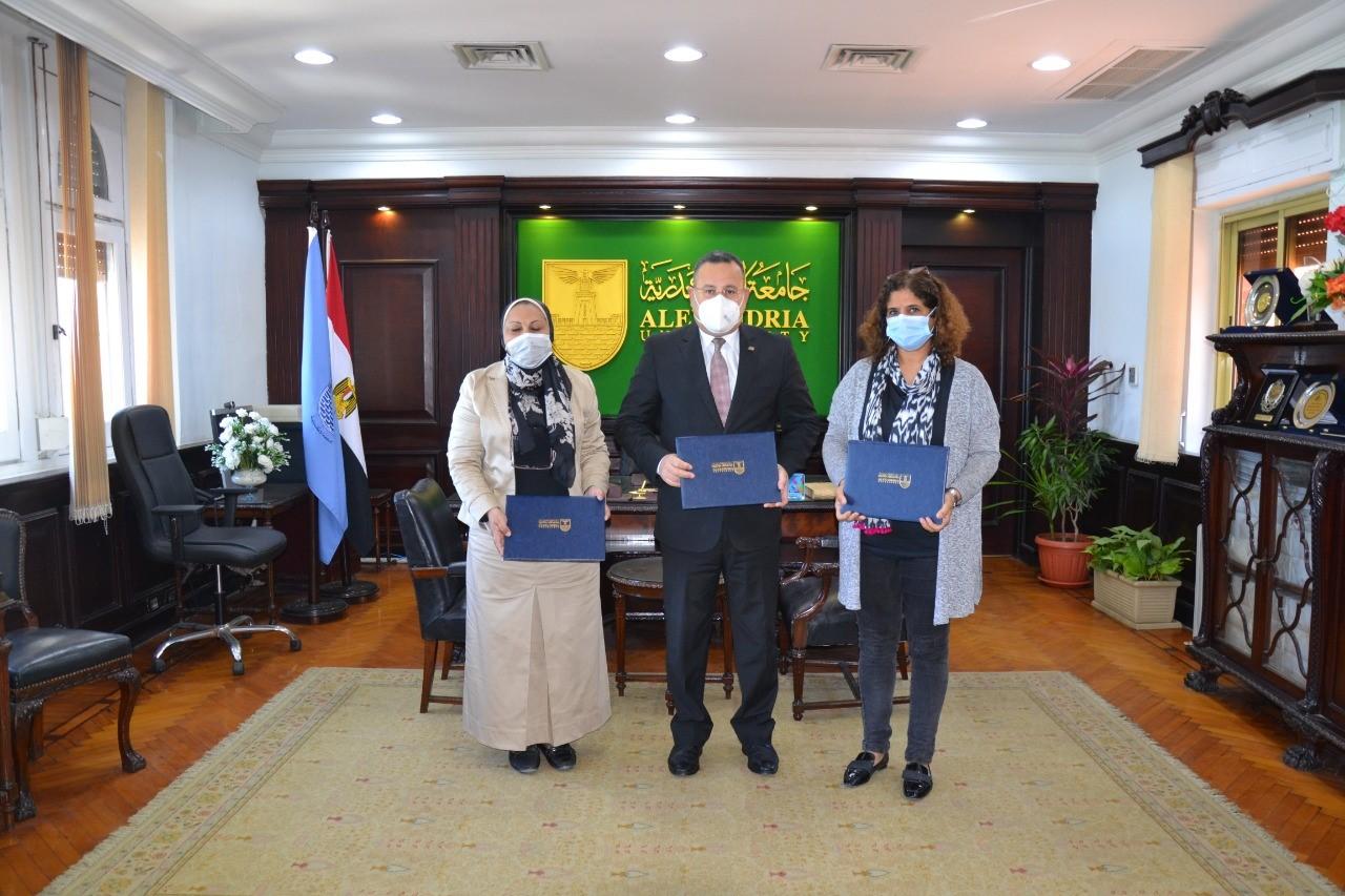 رئيس جامعة الاسكندرية يوقع اتفاقية تعاون مع جامعة kassel