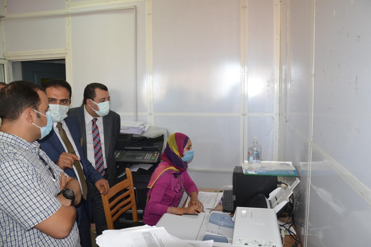 لجنة من وزارة التعليم العالى لتقييم الاجراءات الاحترازية بجامعة الاسكندرية